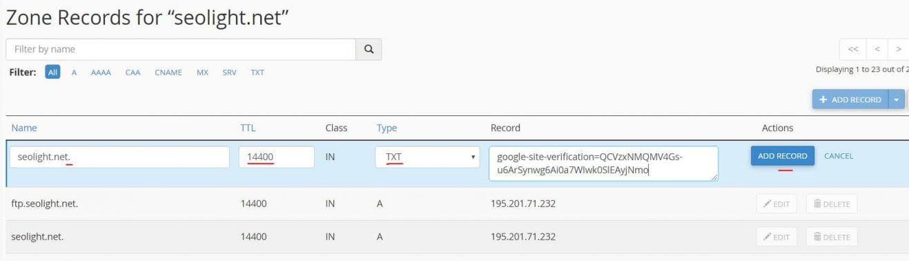 آموزش تنظیم DNS برای ثبت سایت در سرچ کنسول گوگل